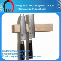 Made with neodymium magnet/ 8''-24'' Strong bamboo magnetic knife holder