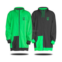 waterproof long tall hoodies snowboard ski waterproof green and black tall hoodies