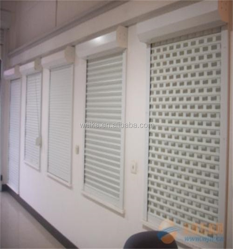 Roller shutter combination window screen windows