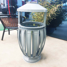 Novel stand metal handmade antique outdoor dustbin