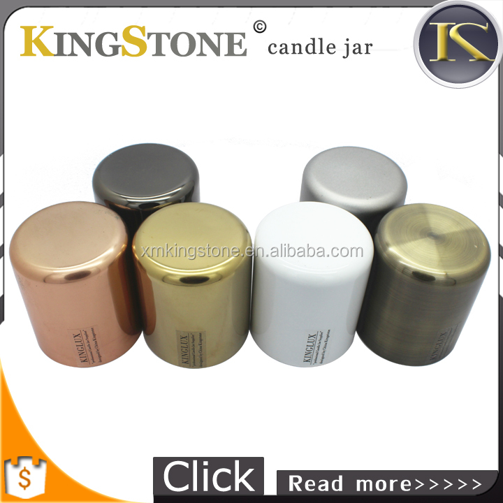 round Stainless Steel candle holders candle jars
