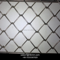 Galvanized Chain Link Wire Mesh Fencing , PVC Coated Chain Link fences ,Plastic Chain Link Fence ( ISO9001 Certificated )