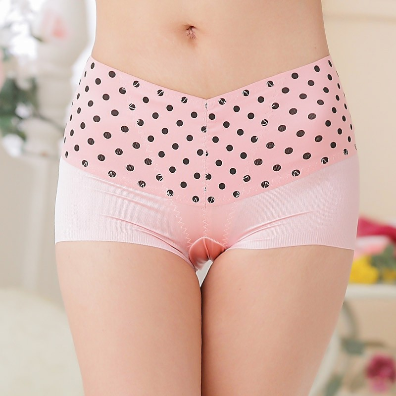 Hip-hugger Panties Skinny Style Woman Cute Boyshorts Dotted Print Underwear