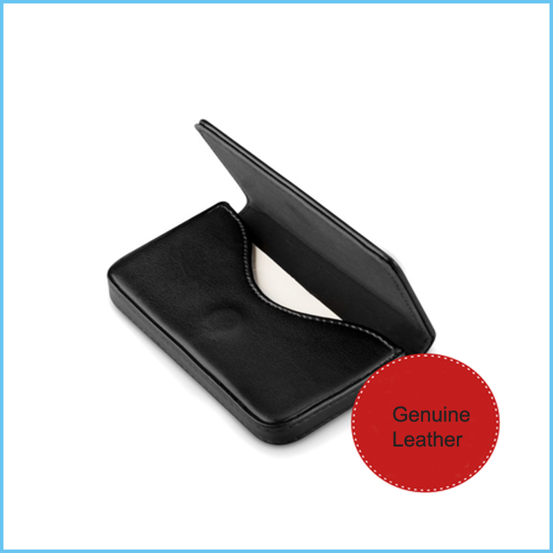 High Quality Men Women Business Card Holder Case With Magnetic Button