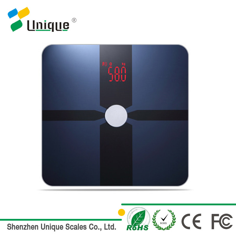 180kg/400lb Tempered Glass ITO Film LED Display Electronic Digital Bath Bluetooth Body Weighing Scale