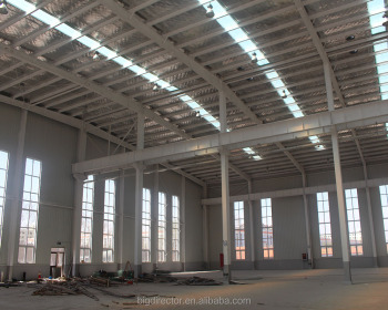 Galvanized Iron Structure Building Workshop China Made Steel Industrial Warehouse