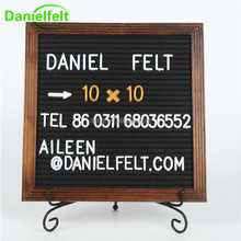 Mid - Century type Wooden felt Letter display Board with changeable letters for Wall Decor