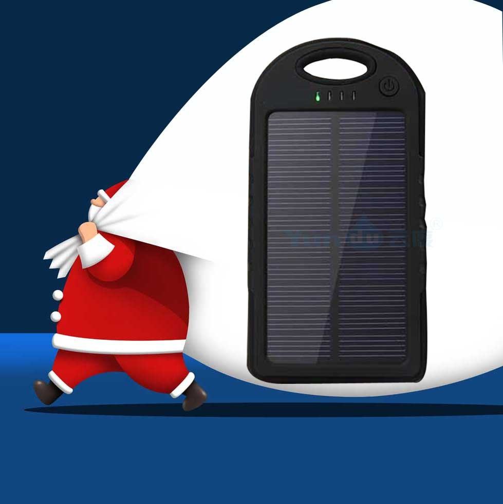 5000mah Solar Charger Electronic Product Waterproof Portable Power Bank for Galaxy Note 2 iphone 6 Emergency solar charger