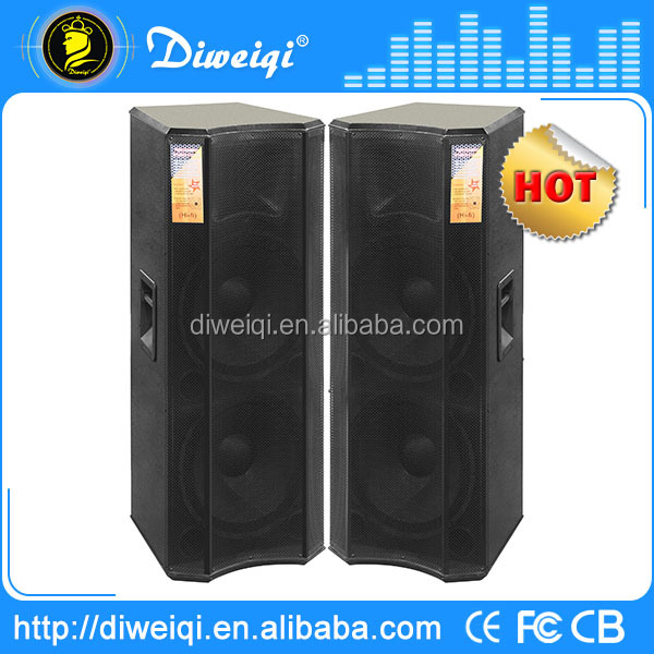 professional subwoofer 15 inch dual loudspaeker in big power for dj stage