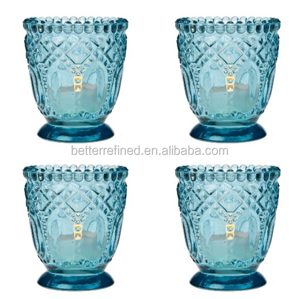 Home Decoration crystal Glass votive tealight candle Holders