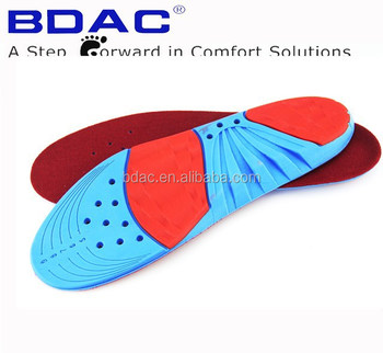 trimmed pu foam shock absorbent rubber basketball insole