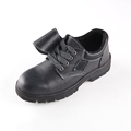 The best quality cow leather men working shoes with steel toe