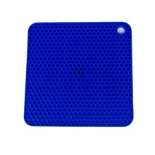 Heat resistant and slip resistant silicone rubber table mats