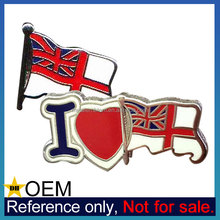 Bulk Cheap Custom National Royal Navy White Ensign Flag Pin Badge