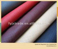 High quality hole punched automotive upholstery leather,car seat leather