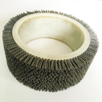 Industry abrasive wire wooden polishing roller brush from factory