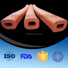 FDA Grade Closed Cell Silicone Rubber Foam Tube Wholesale, Sponge Rubber Foam Pipe OEM