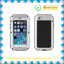 Heavy duty back cover for iphone 5s case, shockproof gorilla glass hard case for iphone 5 5s metal case