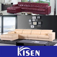 Leisure modern living room furniture curved sofa