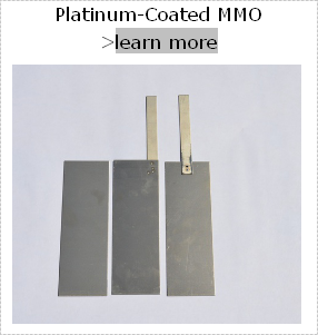 Titanium anode for disinfecting swimming pool