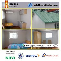 two side slope small villa prefabricated house for sale