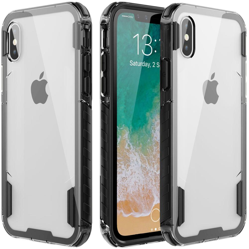 Elegant High Protective Flexible PU Grip Crystal Case China <strong>Mobile</strong> <strong>Phone</strong> Case For iPhone X Clear Case