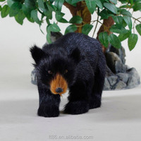 Bulk production wholesale life size black bear toy