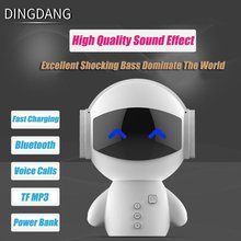 Mini Portable Robot Smart Blueototh Speaker With BT CSR 3.0 Plus Bass Music Calls Handsfree TF MP3 AUX and Power Bank Function