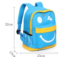 Free sample top quality canvas kids cartoon school bag