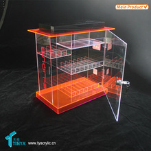 China Supplier Wholesale Hot New Products 4-tier Multi-use Acrylic Acrylic Display Case with Lock and Key for E-cigarette
