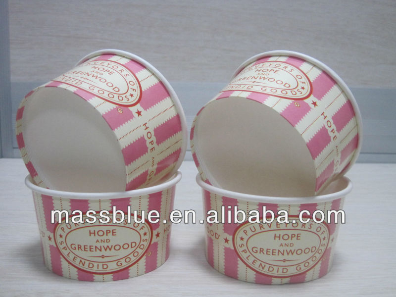 Disposable Italian Gelato Paper Packaging Cup,Paper Gelato Cup