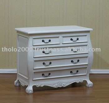 White Painted Furniture 5 Drawers Chest Buy White