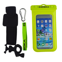 OEM Simple Design 5-6 Inch Mobile Phone Case PVC Waterproof Bag with Armband for Swimming