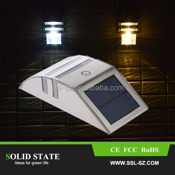 Super Bright 0.55W Motion Sensor With 6V 0.33W Solar Panel Wall Lamp