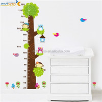 colorcasa ZYCD003 cartoon animals wall stickers transparent stickers growth chart