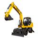 China Leeheey LH80W Used Large Wheel Hydraulic Excavator With Certification ISO
