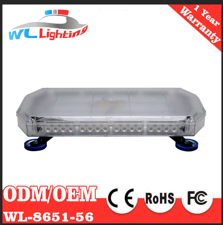 12v 24v 60cm 56w LED Amber Emergency Mini Lightbar/Warning Flash LED Mini Light Bars for Cars