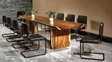 F-YH-2 Modern office furniture solid wood top conference table with chairs office desk