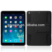 For apple ipad air case,Hybrid Kickstand PC Silicone Case for iPad