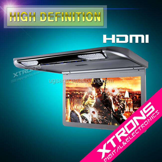 hot products 2017 13.3 inch auto touch screen vision car dvd player built in HDMI port with gps tracking software /mp5