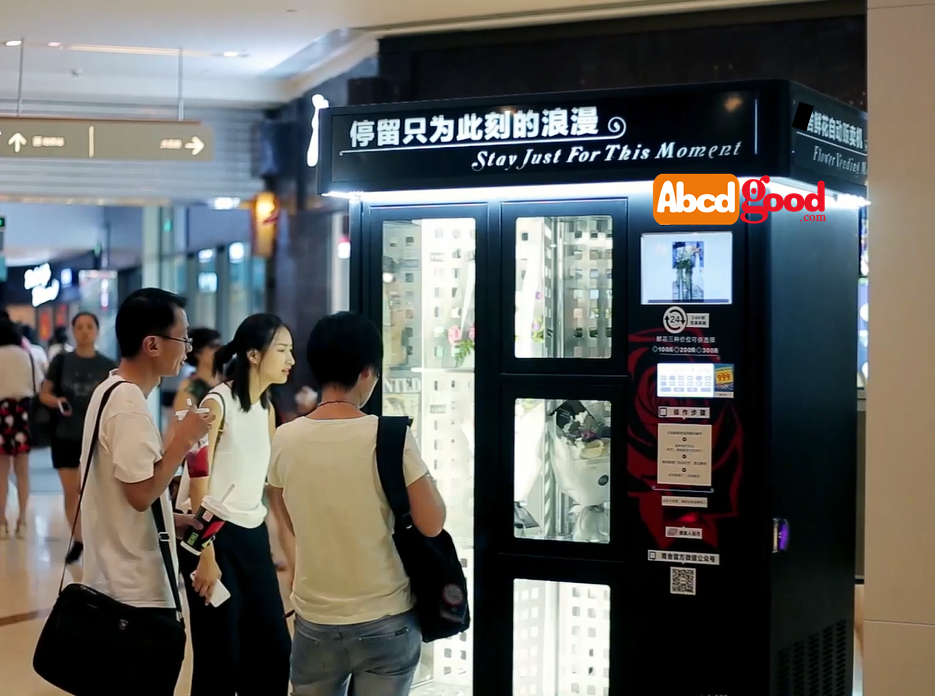 flower automated <strong>payment</strong> vending machine with fridge Refrigerator