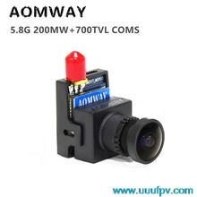 3U-80095 For Receiver Aerial Photography Drone 19g FPV AOMWAY 5.8G 8CH 200mW AV Transmitter Integrated 1/3 CMOS HD 700TVL Camera