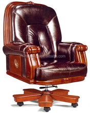 Real pictures antique wood base executive office chair furniture(FOHA-33)