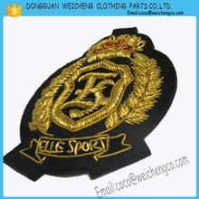 Hand made badges wire badges /hang embroidery for garment.