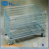 Welded portable rigid stackable metal wire dog cage