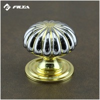 flower satin gold general usage door hardware wooden door knobs