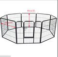 0.8x0.8m pet rabbit guinea pig dog puppy playpen metal hutch cage house