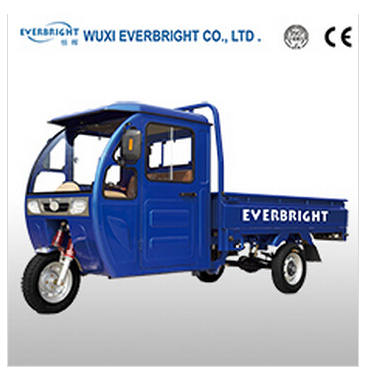 gasoline engine self-closed cargo three wheel tricycle
