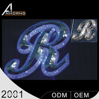 waterproof outdoor 3d led light plastic channel resin letter for advertising