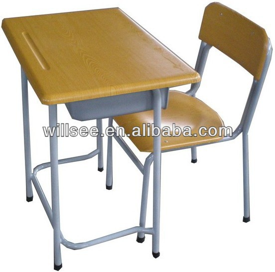Promotion !!! US$14.50/set ,FOB Ningbo,Wood/Metal school student desk and chair